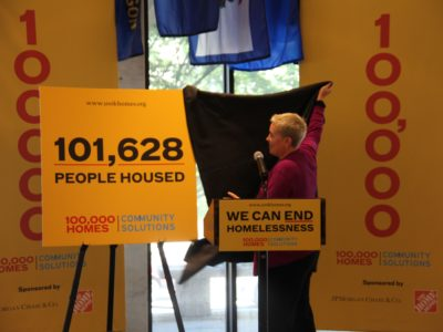 Becky Kanis unveils the results of the 100,000 Homes Campaign