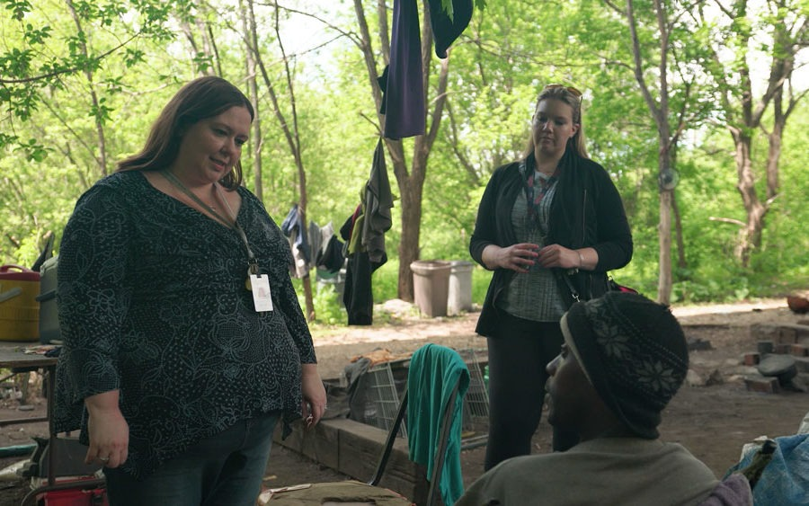 Angie Walker conducting outreach in Rockford, Illinois.