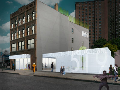 Rendering of new housing for Brownsville NYC
