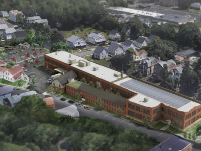 Overhead shot of the Swift Factory (rendering)