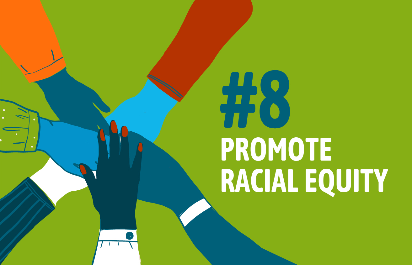 Graphic Reading Promote Racial Equity