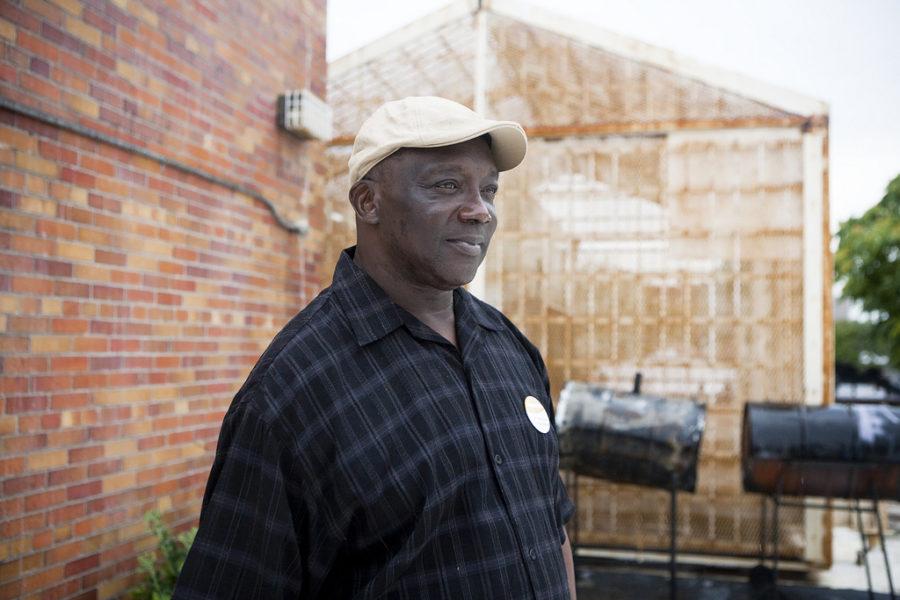 Formerly homeless man standing outside