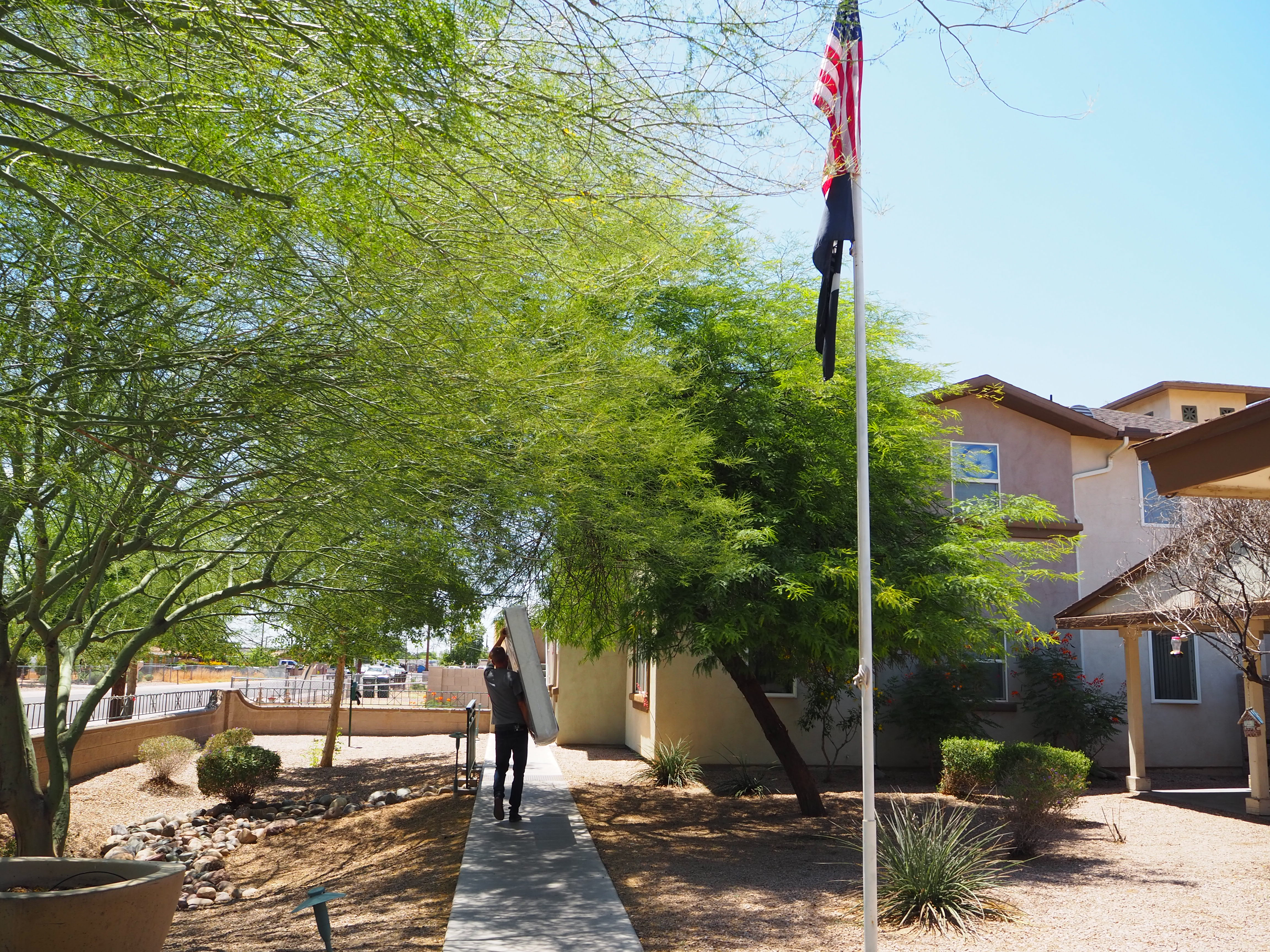 Moving a veteran into permanent housing in Phoenix