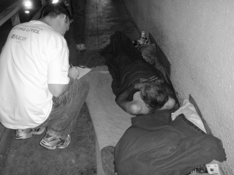 Surveying a homeless community