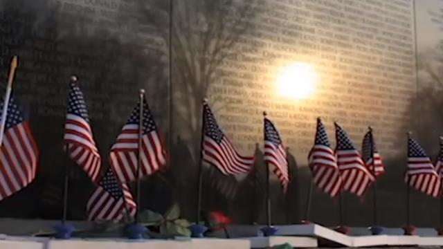 flags outside