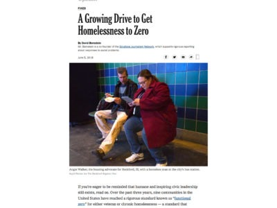Screenshot of New York Times article on Built for Zero