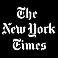 NY Times logo on black