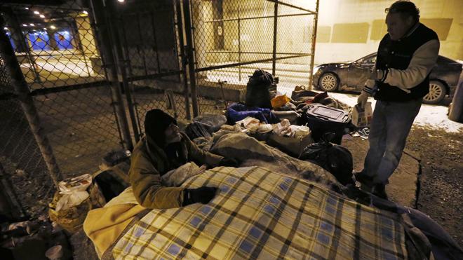 homeless people sleeping