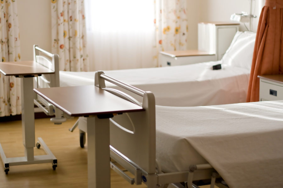 Empty hospital beds