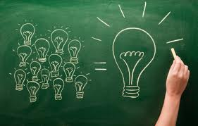 Chalkboard writing indicating ideas