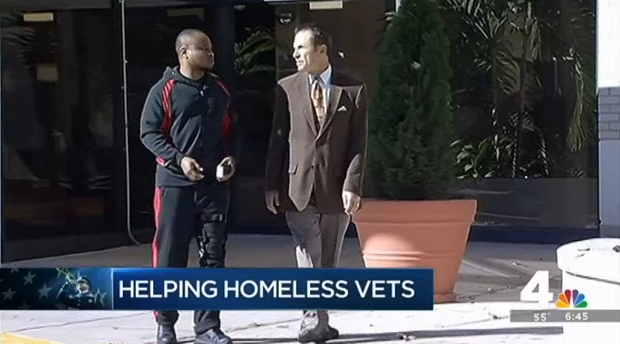 TV interview on helping homeless vets