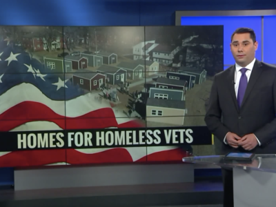 News report on homes for homeless vets