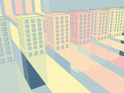 Digital rendering of buildings