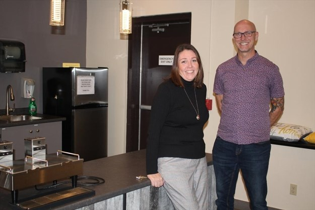 Southridge Shelter's acting director Samantha Kenny and Housing First and shelter coach supervisor David Michels
