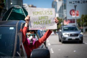 homeless lives matter sign