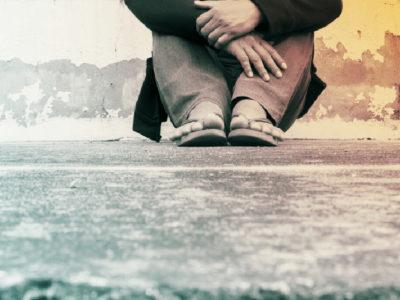 sitting on ground