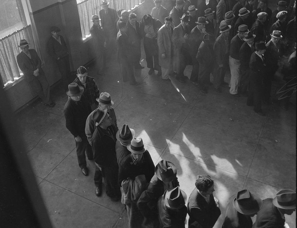 Unemployment benefits aid begins, 1938 / Photograph by Dorothea Lange