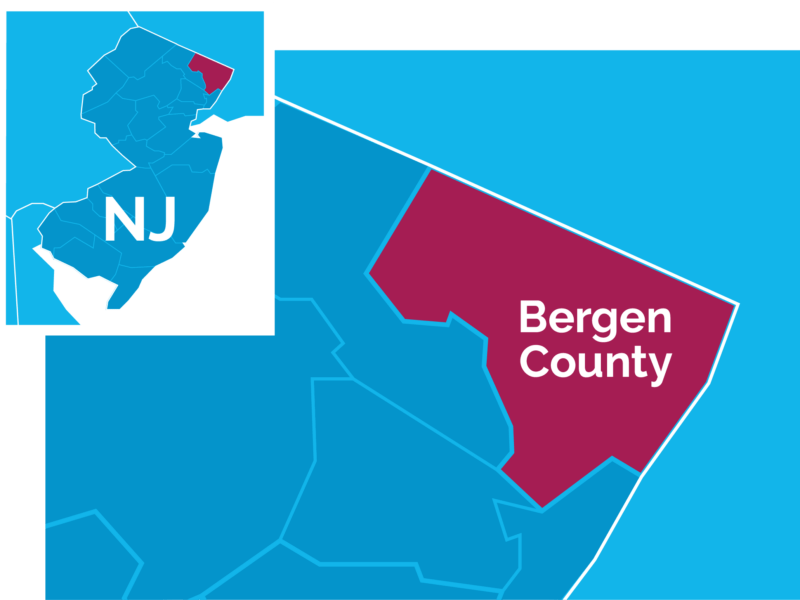 Map of Bergen County Area