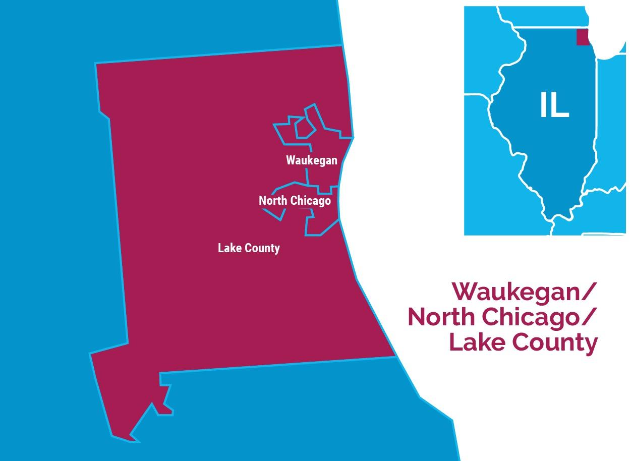 Lake County, Illinois Map