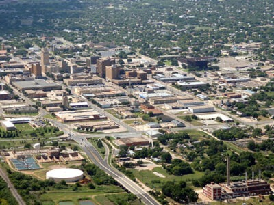 Aerial view of Abilene, TX
