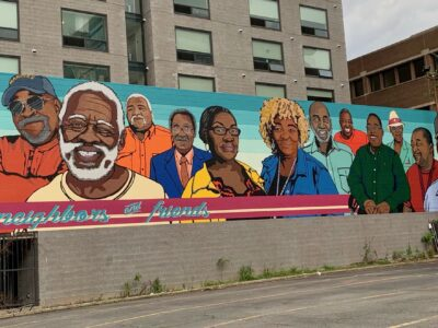 Conway Building Neighbors and Friends Mural