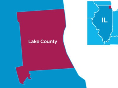 Map of Lake County, Ill.