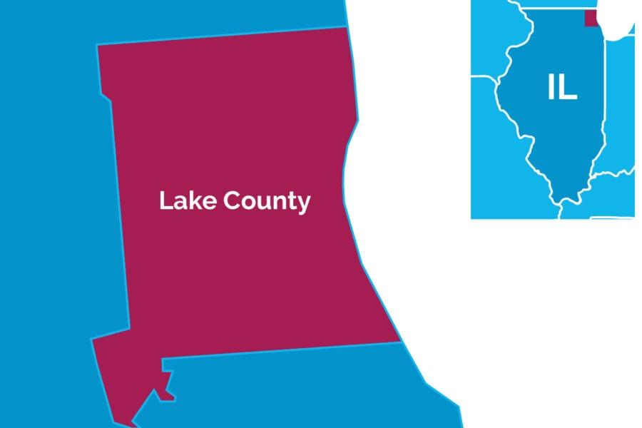 Map of Lake County, Ill.