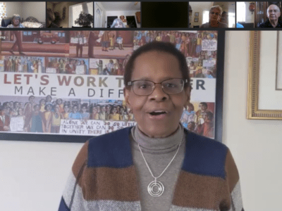 Edith Guffey, Lawrence resident and conference minister for the United Church of Christ Kansas-Oklahoma Conference, gave the keynote address at Justice Matters' virtual Martin Luther King Jr. event on Jan. 18. Via Justice Matters