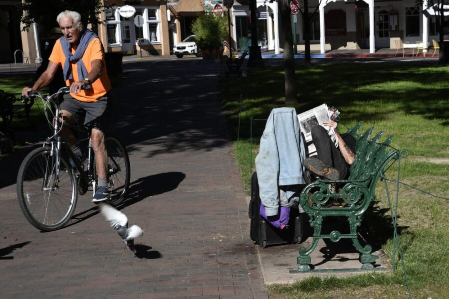 Homelessness in Santa Fe. Photographer: Robert Alexander/Getty Images
