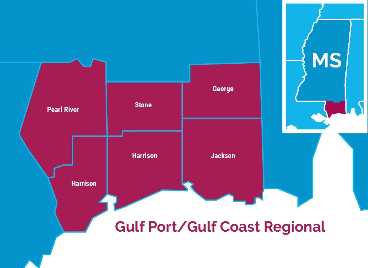 Gulf Coast region, Mississippi
