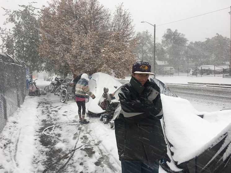 Record numbers of people headed to shelters during the storm. (Credit: Sarah Fleming)