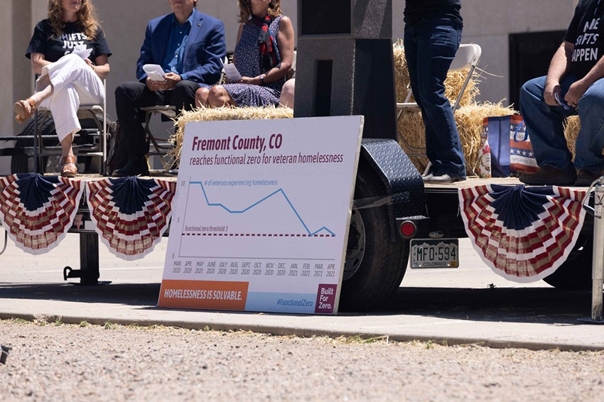 Fremont County, CO, reached functional zero for veteran homelessness