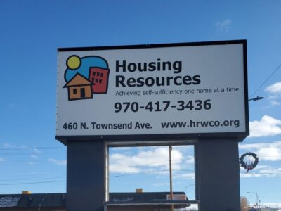 Housing Resources of Western Colorado's sign greets visitors at its Montrose location on North Townsend Avenue. (Katharhynn Heidelberg/Montrose Daily Press)