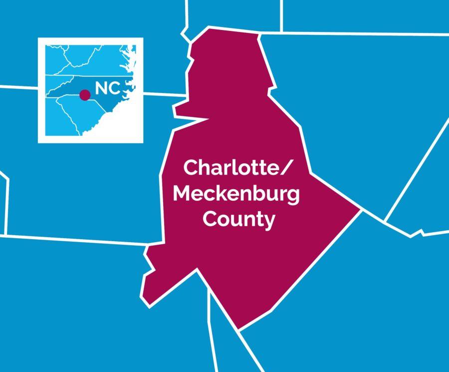 Map of Charlotte-Mecklengburg, NC